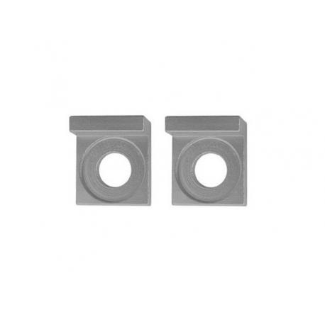 Square aluminium chain tensioners - 15mm - Silver