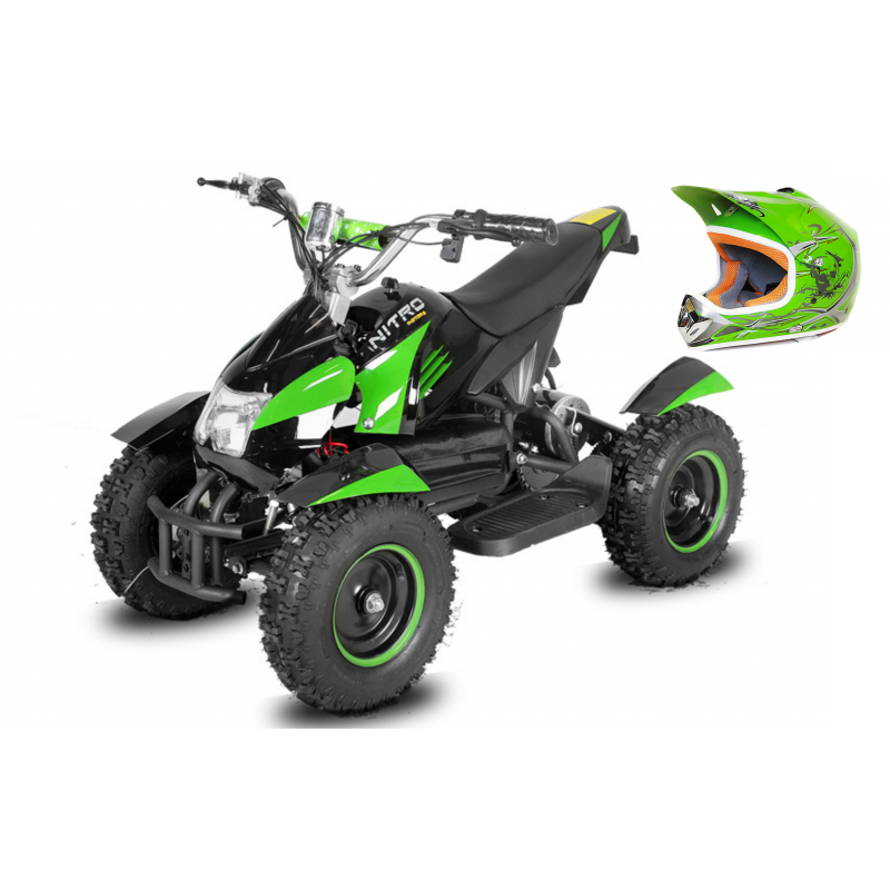 Pack Cobra 800 W Casque Quad Electrique Kids Btc Motors