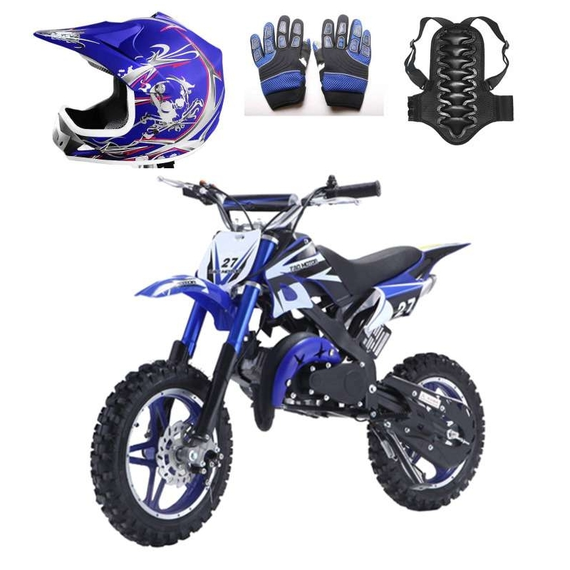 Pack Apollo 49cc 10 Protections Dirt Bike And Helmet