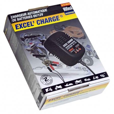 Chargeur 6V/12V 900mA Pour Quad et Scooter